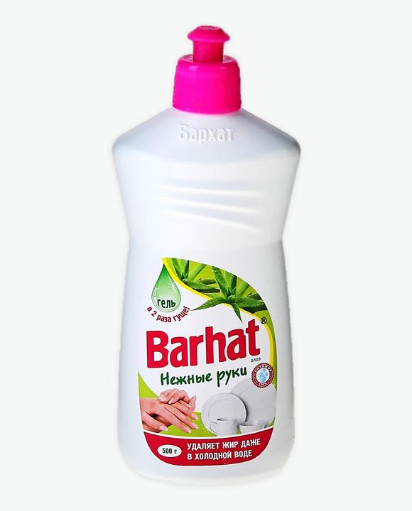 Средство для мытья посуды БАРХАТ Нежные руки Алоэ
