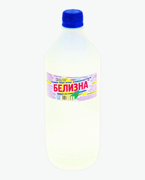 Чистящее и дезинфицирующее средство с отбеливающим эффектом БАРХАТ БЕЛИЗНА Лимон