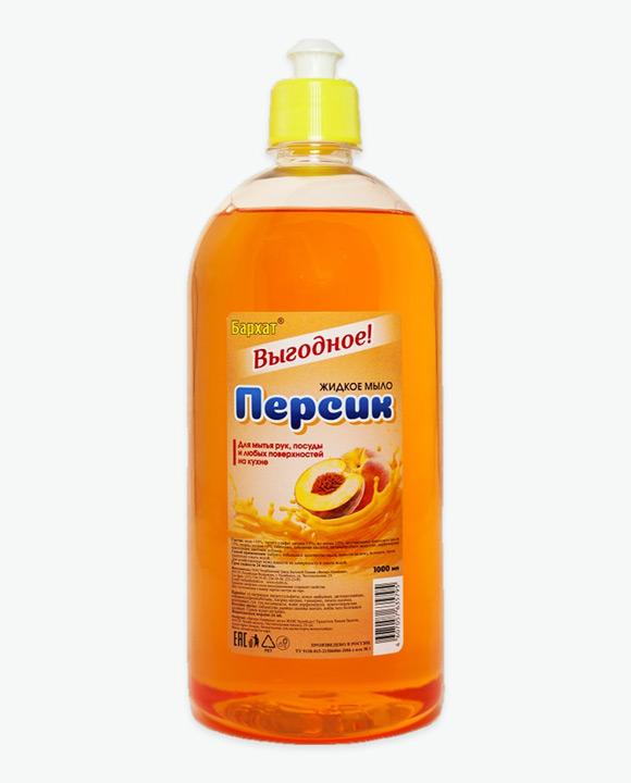 Мыло жидкое БАРХАТ Выгодное Персик