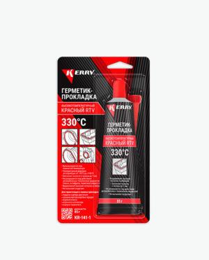 Автомобильный герметик-прокладка высокотемпературный красный RTV KR-141-1