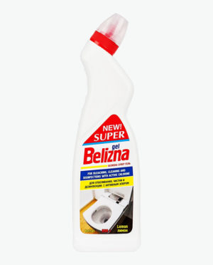 Чистящее и дезинфицирующее средство с отбеливающим эффектом Гель СУПЕР БЕЛИЗНА универсальный Лимон