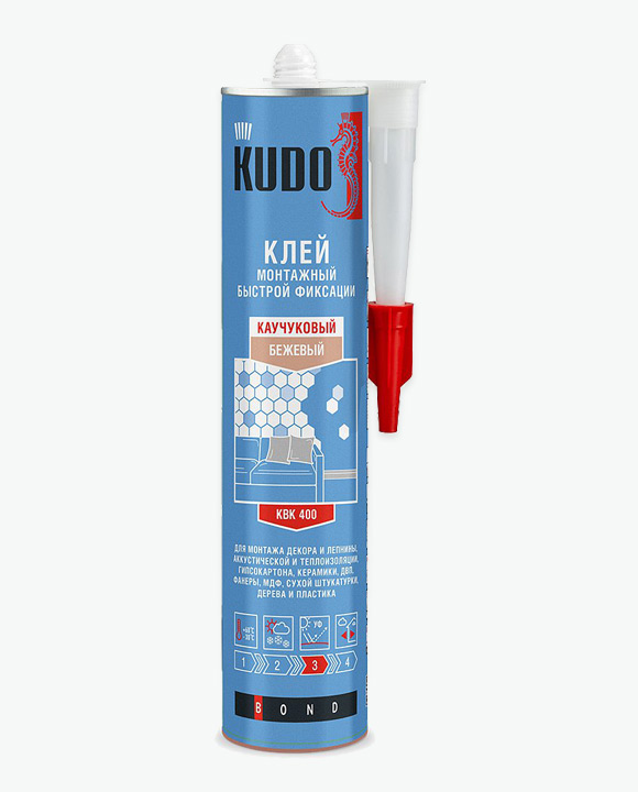 Универсальный монтажный клей быстрой фиксации на каучуковой основе «жидкие гвозди» KUGRUB300UQ
