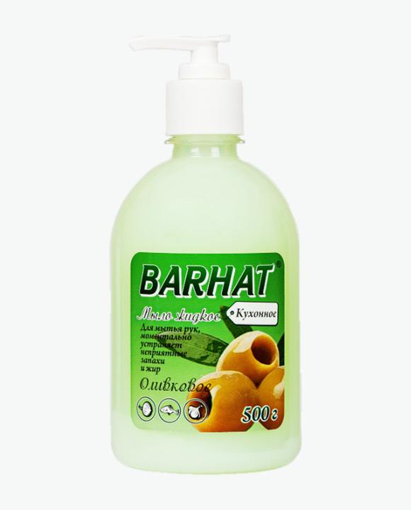 Мыло жидкое БАРХАТ Оливковое кухонное