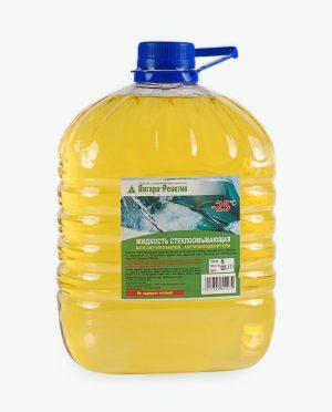 Жидкость стеклоомывающая -25 (Антиобледенитель) 5 л. РЕТ